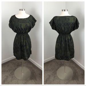 One Clothing olive green tribal print dress